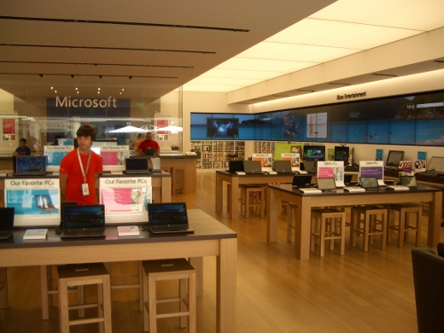 Microsoft Store with no customers
