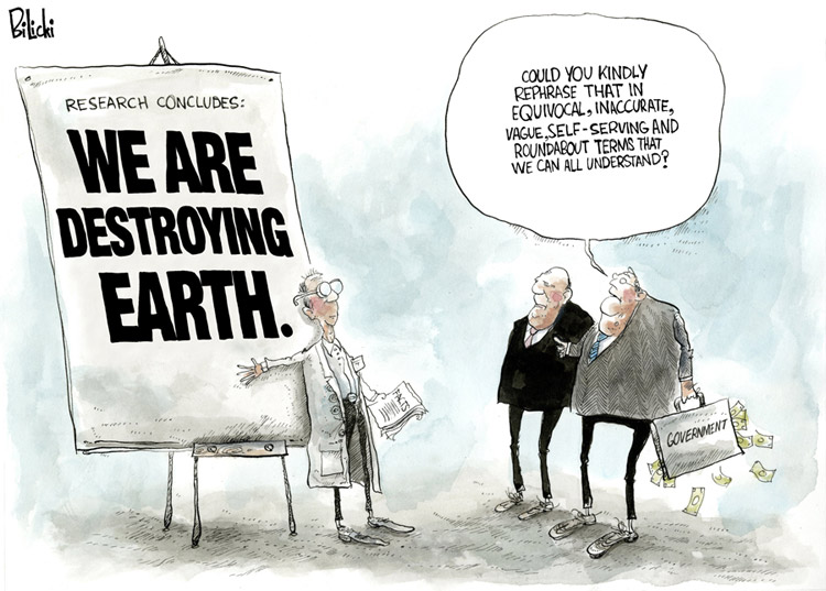 Cartoon by Biliki Mankind Destroying Earth