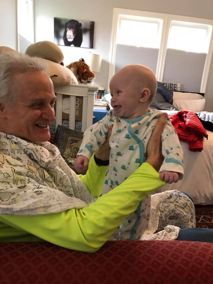 Grandpa Bob and grandson 2018