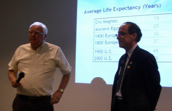 Frank Drake and Ray Kurzweil at SETI