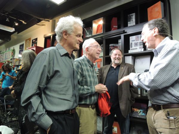 Bob Blum, Ed Feigenbaum, Reese Jones, and John Markoff at Keplers Books in 2016