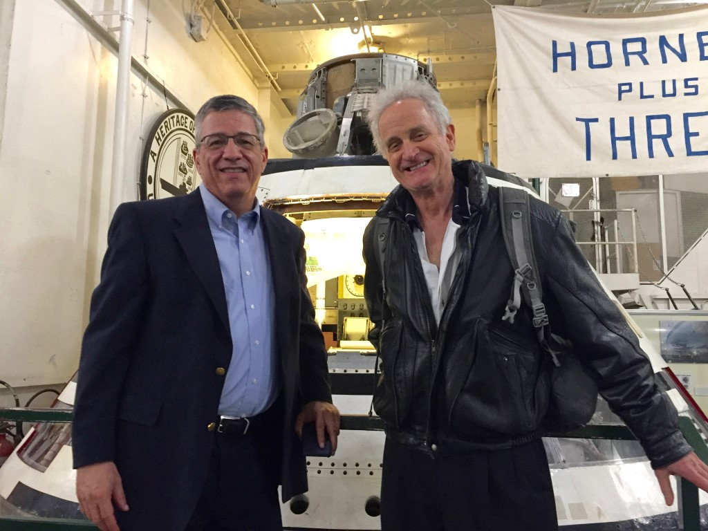 With psych prof Jay in front of the Apollo 11 space capsule