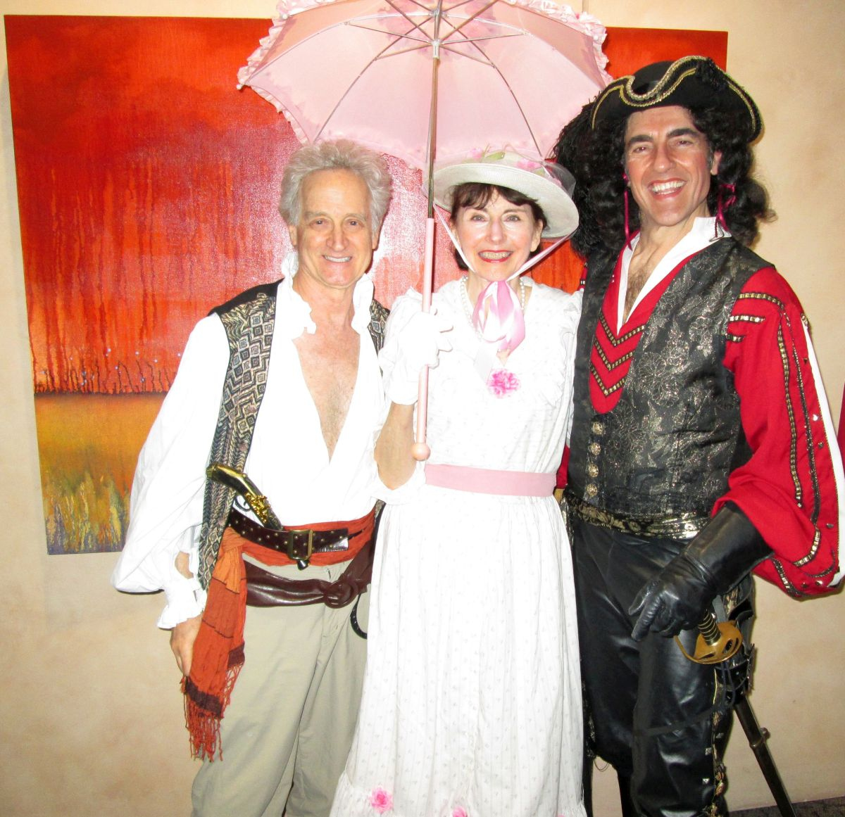 Linda and Bob with the Pirate King